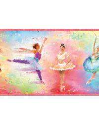 Allegro Red Ballet Portrait Border by  Brewster Wallcovering
