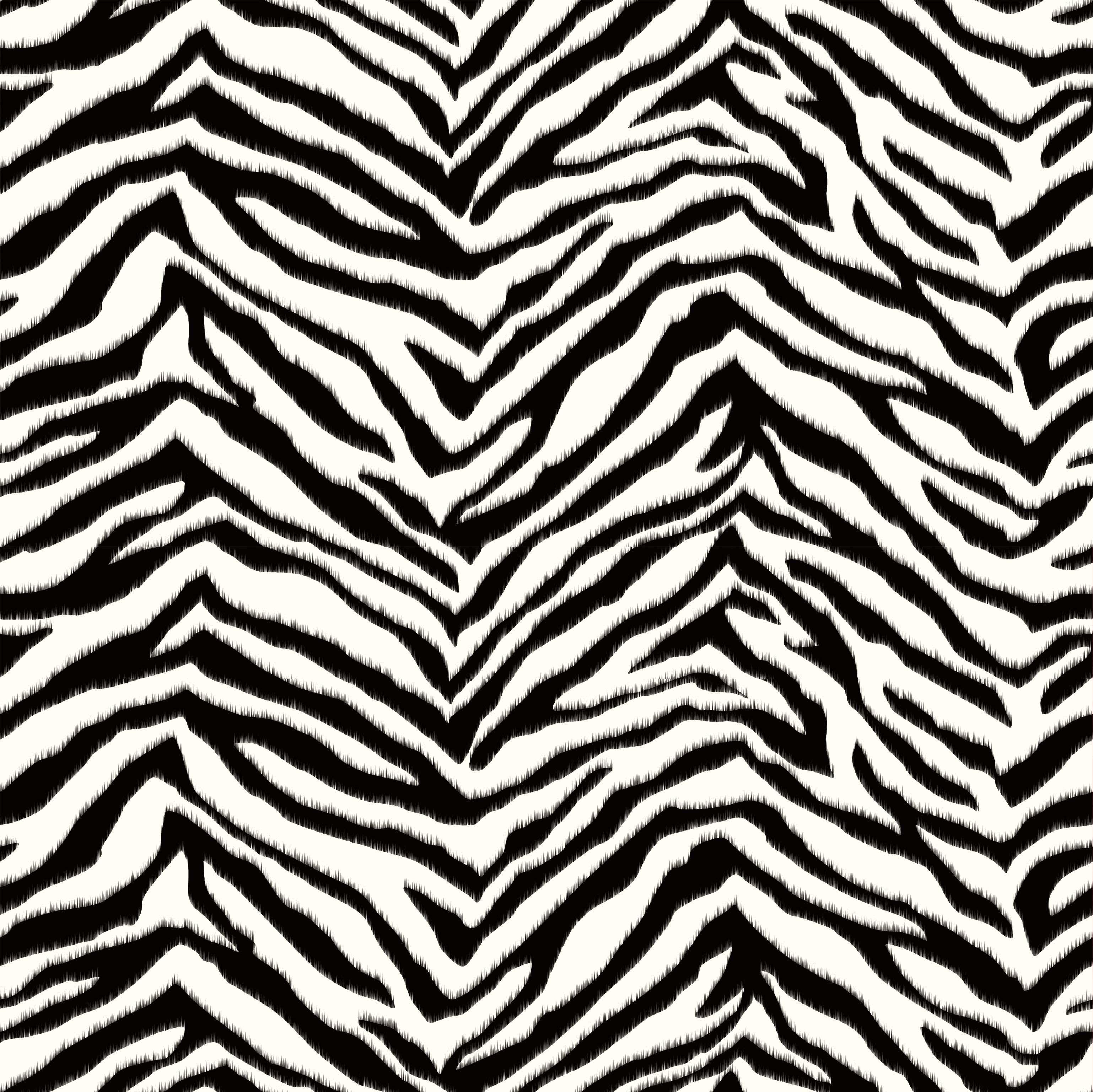 Alice Black Faux Zebra Stripes Wallpaper Brewster Wallcovering