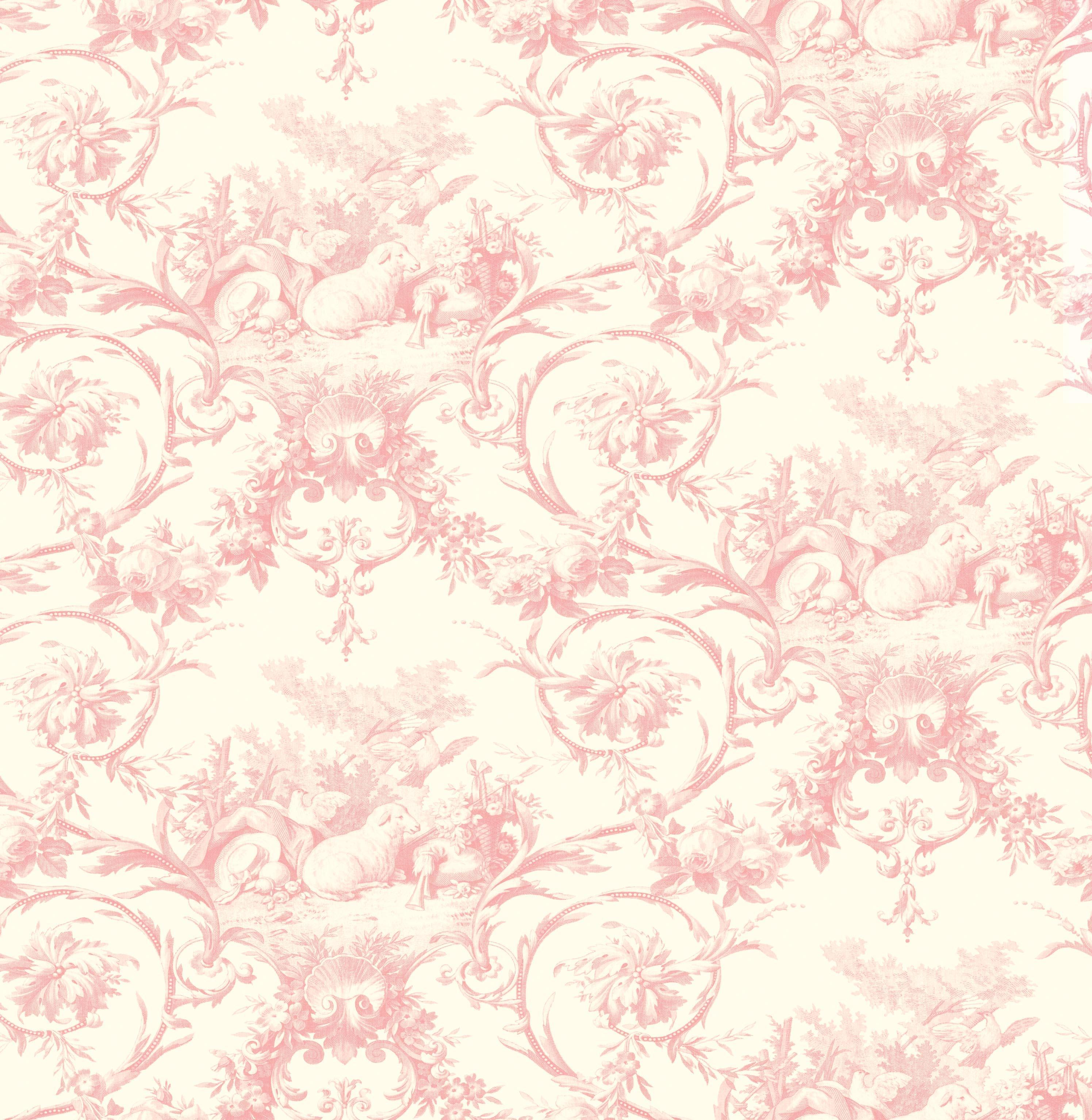 Wall Murals Stick On Brewster Wallpaper Kennedy Pink Modern Toile Wallpaper