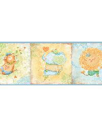 Lucies Blue Circus Border by
