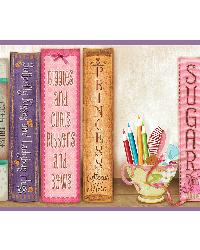 Vivi Purple Sugar and Spice Bookshelf Border by