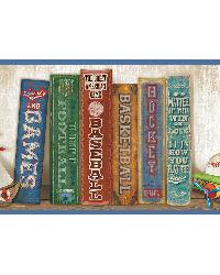Stevie Blue Play the Game Bookshelf Border by