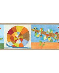 Raffi Multicolor Rainbow Snail and Pals Border by