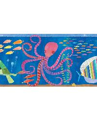 Samantha Ocean Rainbow Sea Critters Border by