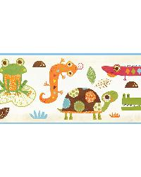 Connor Blue Reptile Smiles Border by