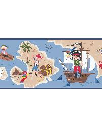 Raegan Navy Pirates Ahoy Border by