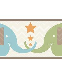 Tobi Brown Elephant Love Border by
