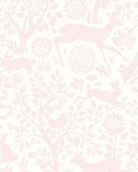 Anahi Light Pink Forest Fauna  by