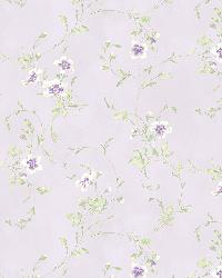 Capri Lavender Floral Scroll by