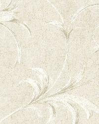 Grey Ogee Acanthus Scroll by