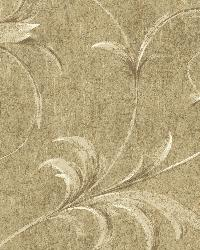 Taupe Ogee Acanthus Scroll by