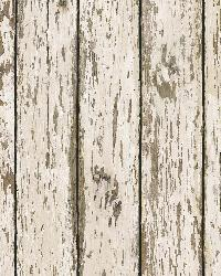 Grendel White Faux Weathered Wood Wallpaper by