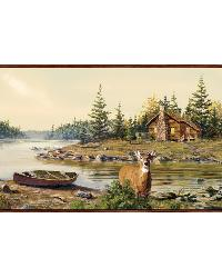 Cabin Creek Sand Portrait Border by  Brewster Wallcovering