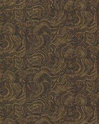 Malachite Brown Stone Tile by  Brewster Wallcovering