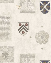 Scholar Cream Crest Wallpaper by