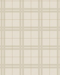 Hilary Beige Plaid Wallpaper by