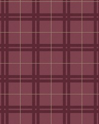 Hilary Red Plaid Wallpaper by
