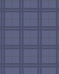 Hilary Blue Plaid Wallpaper by