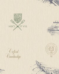 Varsity Blue Row Boat Wallpaper by