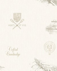 Varsity Grey Row Boat Wallpaper by