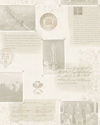 Archive Grey Novelty Wallpaper by