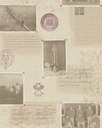 Archive Beige Novelty Wallpaper by