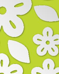 Flowers Mirror Art by  Brewster Wallcovering