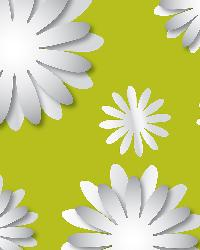 3d Flowers Mirror Art by  Brewster Wallcovering