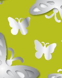 3d Butterflies Mirror Art by  Brewster Wallcovering