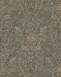 Barnes Navy Paisley Damask by