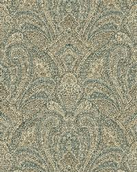 Barnes Teal Paisley Damask by