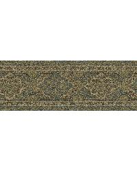 Alfred Blue Paisley Border by