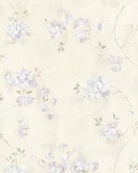 Rosemoor Lavender Country Floral by  Brewster Wallcovering
