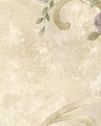 Escot Purple Tearose Acanthus by  Brewster Wallcovering