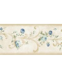 Scotney Blue Tearose Acanthus Border by