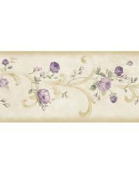 Scotney Purple Tearose Acanthus Border by