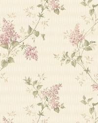Ascott Pink Lilac Trail by  Brewster Wallcovering