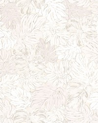 Cedar White Botanical Wallpaper by