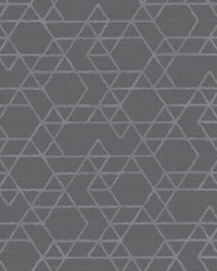 Montego Dark Grey Geometric Wallpaper by