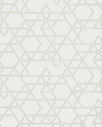 Montego Off-White Geometric Wallpaper by