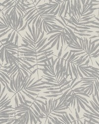 La Veneziana Pewter Leaf Wallpaper by
