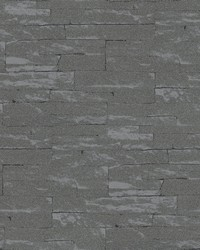 Rheta Charcoal Stone Wallpaper by