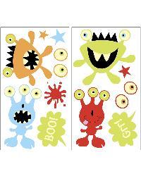 Little Monsters Glow In The Dark Wall Art Kit by