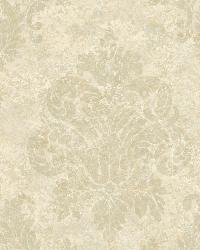 White Dreamy Damask by  Brewster Wallcovering