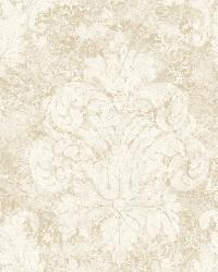 Neutrals Dreamy Damask by  Brewster Wallcovering