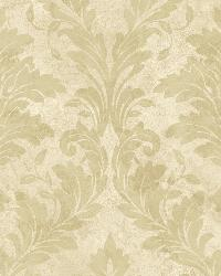 Yellow Avalon Damask by  Brewster Wallcovering