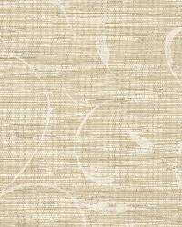 Neutral Autumn Breeze Grasscloth by  Brewster Wallcovering