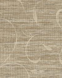 Brown Autumn Breeze Grasscloth by  Brewster Wallcovering