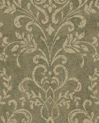Brown Country Damask by  Brewster Wallcovering