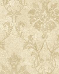 Beige Pineapple Damask by  Brewster Wallcovering
